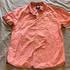 Superdry Button Up Peach/Red Shirt